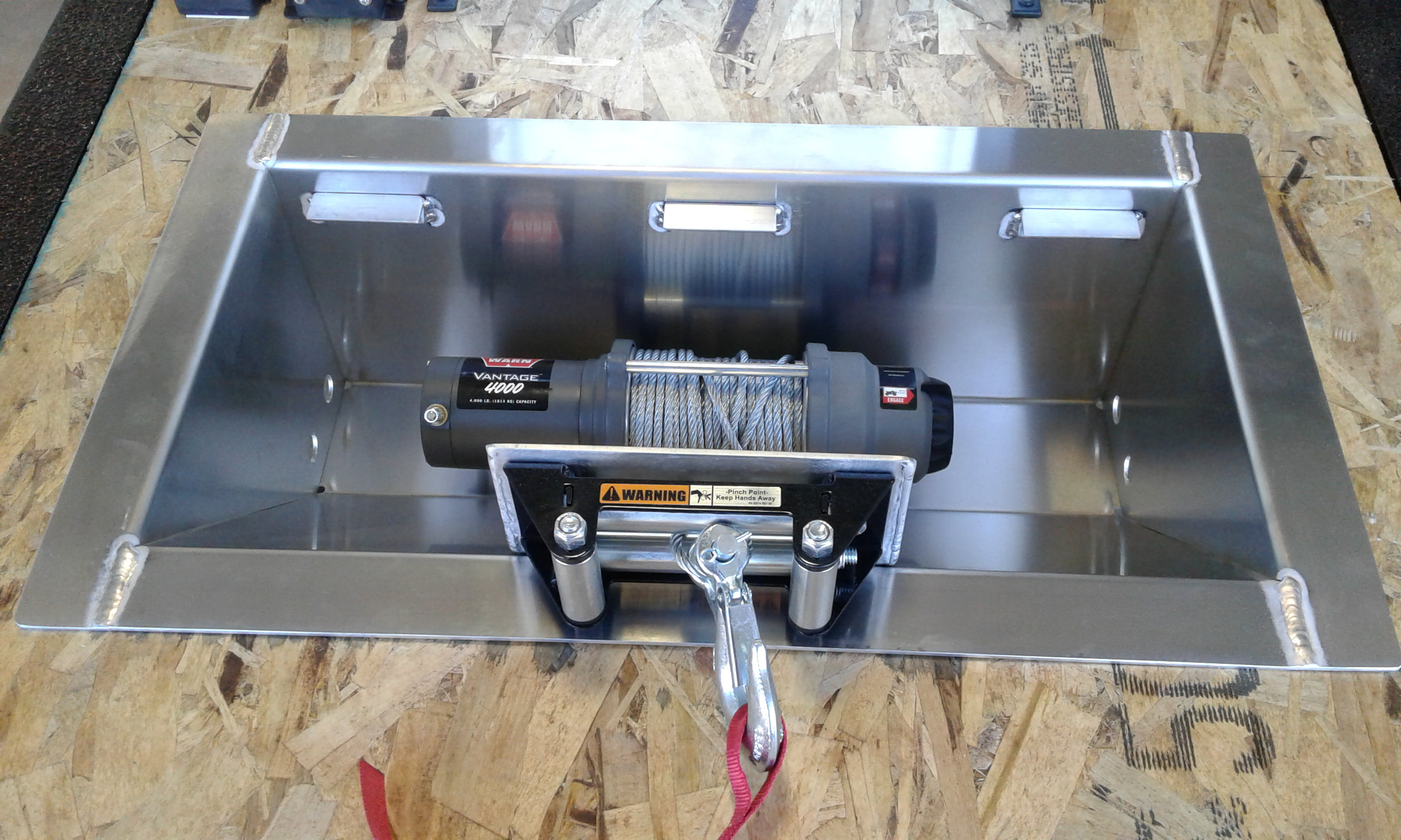 In Floor Winch Mount Aluminum Finish